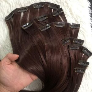 "Accessories - 26"" 16 Clips hair extension clip in"